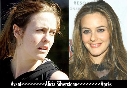 Avant après «Alicia Silverstone»