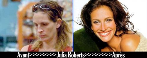 Avant après «Julia Roberts»